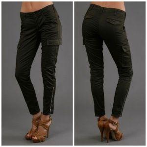 J BRAND Black Houlihan Cargo Skinny Ankle Pants